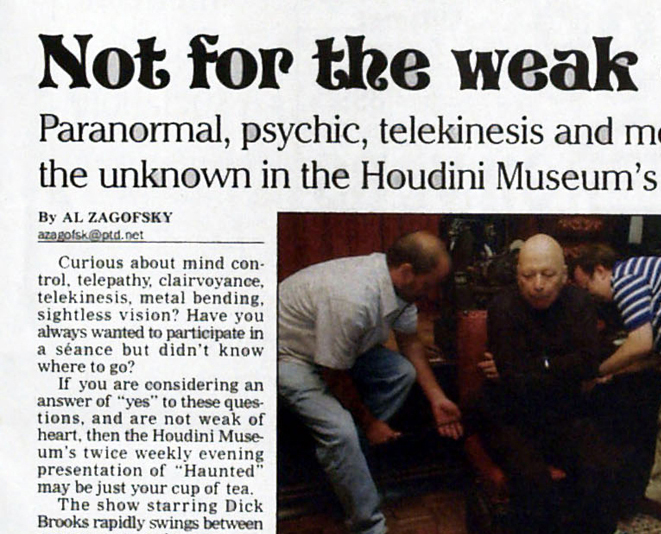 paranormal psychic entertainer entertainment
